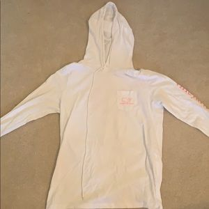 vineyard vine pullover with a hood